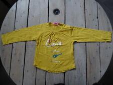 T-shirt Manches longues jaune imprimé et brodé cœur NKY Taille 4 Ans / 104 cm