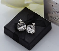 925 SILVER EARRINGS STUDS MADE WITH SWAROVSKI CRYSTALS FANCY STONE- CRYSTAL