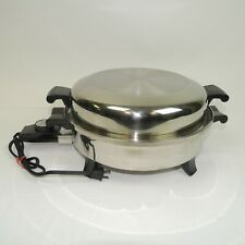 """Regal Ware SOCIETY 7253 ELECTRIC Stainless Steel OIL CORE SKILLET PAN 12"""""""