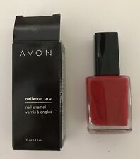 Avon Nailwear Pro Nail Enamel Polish Real Red vintage 2009 unused in box