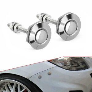 2pcs Push Button Quick Release Hood Bonnet Pins Lock Clip Auto Car Bumper Latch