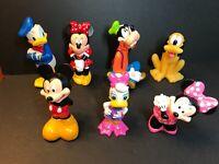 Set of 7 Disney Mickey Donald Duck Pluto Minnie daisy Goofy Figurines