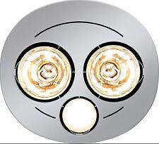 HPM 2x275W BATHROOM INSTANT HEAT 3in1 Exhaust Fan & 7W LED Light Round - SILVER