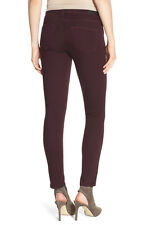 NWT PAIGE PREMIUM DENIM Verdugo Mid-Rise Ankle Skinny Jeans Size 30 in Aubergine
