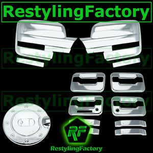 09-14 Ford F150 Chrome Mirror+4 Door Handle+keypad+PSG keyhole+Gas Cover COMBO