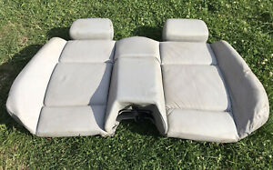 Bmw E36 Convertible Leather Rear Seat Back Light Grey