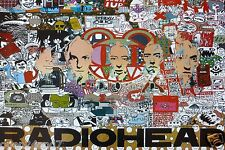 "Radiohead ""Collage Of Band'S Faces & Artwork"" Poster From Asia - Alt Rock Music"
