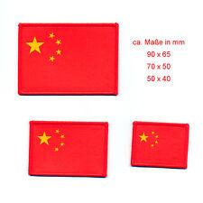 3 China Flaggen Flags Volksrepublik Mao Peking Patch Aufbügler Aufnäher 0866