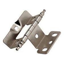 """Amerock Full Inset Wrap Swing Minaret Tip Hinge 3/4"""" Sterling Nickel PKA03175TMG"""