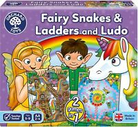Orchard Toys FAIRY SNAKES & LADDERS Educational Game Puzzle BN