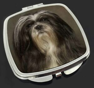 Lhasa Apso Dog Make-Up Compact Mirror Birthday Gift Idea, AD-LAP1CM