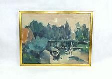 Dipinto Immagine frame a 1900 Quadro a olio Barca