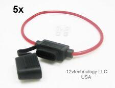 5X Fits Littlefuse Inline Fuse Holder 30A Rated ATO/ATC Blade 14Ga Marine 12V FG