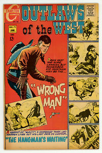 JERRY WEIST ESTATE: OUTLAWS OF THE WEST #73 FN & KID MONTANA #31 VG+ Charlton
