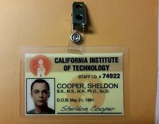 The Big Bang Theory ID Badge- Dr. Sheldon Cooper prop costume cosplay