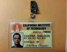 The Big Bang Theory ID Badge- Dr. Sheldon Cooper prop costume cosplay