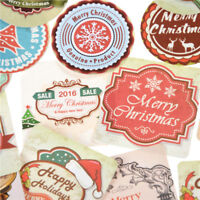 46x Merry Christmas Mini Sticker DIY Diary Scrapbooking Seal Sticker Gift Toy JR