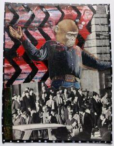 """REDEMPTION"" mixed Media collage Original Vintage SURREAL outsider Artist"
