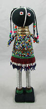 """South African Ndebele Traditional Multi-Color Beaded Ceremonial Doll 12"""" Tall"""