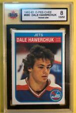 1982-82 O Pee Chee Rookie #380 Dale Hawerchuk RC KSA Graded 8 NMM Winnipeg Jets