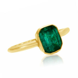 10K Yellow Gold 1/2 CT EMERALD Ring