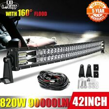 22 32 42 50 52'' Curved 2-Row COMBO Led Work Light Bar Driving Offroad fits Ford