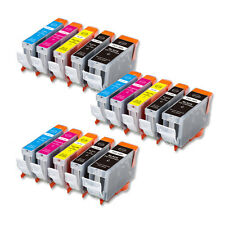 15 PK Printer Ink + Chip for Canon PGI-5BK CLI-8 MP530 MP800 MP830 FAST SHIP