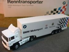 1/87 Herpa MAN Team Schnitzer BMW Motorsport Fina Renntransporter
