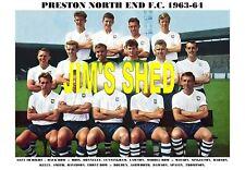 PRESTON NORTH END F.C.TEAM PRINT 1963-64 (DAWSON/KELLY)