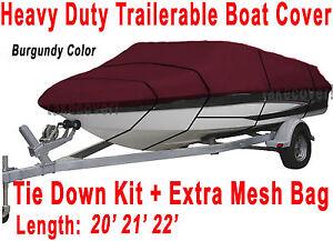 Maxum Marine 2000/SR 2000 SR Trailerable Boat Cover Color Burgundy Z103