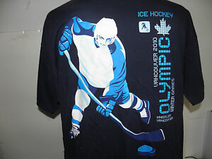 Vancouver 2010 Olympic Winter Games Official Hockey Logo t-shirt size XL NWOT