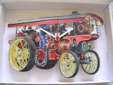 Reloj De Pared Antigua showman tracción/Tractor De Motor De Vapor. nuevo y en caja.