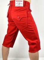 True Religion Brand Jeans Men's Straight Fit Big T Cutoff Shorts - 100668