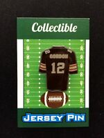 New England Patriots/Cleveland Browns Josh Gordon jersey lapel pin-Collectible