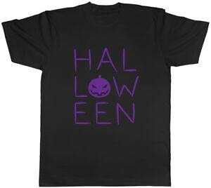 Spooky Halloween Purple Mens Womens Ladies T Shirt Tee