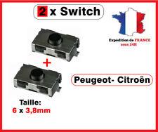 2 Switch bouton clé télécommande Peugeot 106 206 207 307 406 Citroen xsara C3 C5
