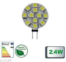 39.930124C LAMPADA LED G4, 2,4W, 12 LED SMD5050, 120°, 3000K, 12Vac, LM 165