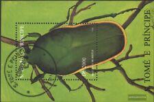 Sao Tome e príncipe Bloque 359 (edición completa) usado 1996 insectos
