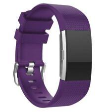 Fitbit Cargo 2 banda de silicona de una sola correa portadora-Púrpura-FB0033