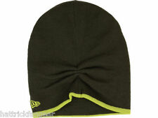NEW ERA TWO TONE SLOUCH KNIT WINTER HAT/BEANIE/TOQUE - OD/LIME GREEN