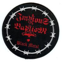 Impious Baptism Black Metal Patch Patch Nocturnal Graves Destruktor Ignivomous