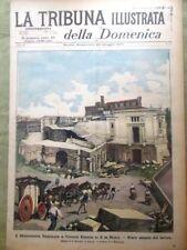 La Tribuna Illustrata 26 Maggio 1901 Vittorio Emanuele Major Taylor Tram Serbia