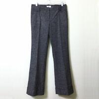 LOFT Wool Tweed Pants Black Size 4 Women's Marisa Fit Flare Leg Stretch