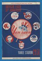 1951 New York Yankees v Washington Senators Scorecard Program DiMaggio Mantle #6