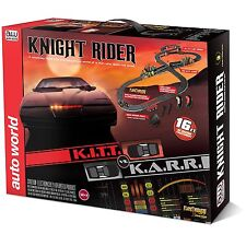 Auto World K.I.T.T vs K.A.R.R. World 16' Knight Rider Slot Car Race Set NEW
