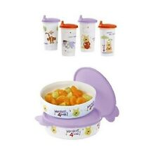 NEW Tupperware Winnie the Pooh Lunch Set Persimmon/Sorbet/Snow White