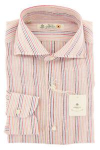 Luigi Borrelli Multicolore Camicia a Righe - Extra Slim - (ZU )