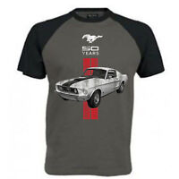 Mens Ford Mustang T Shirt Pony Cobra Shelby American Classic Muscle Car Clothing