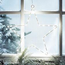 30er LED Stern Fenster Licht Deko Weihnachts Beleuchtung Batterie Innen 23cm