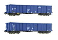 """Roco H0 76044 Hochbordwagen-Set """"Bauart Eanos"""" der PKP Cargo - NEU + OVP"""